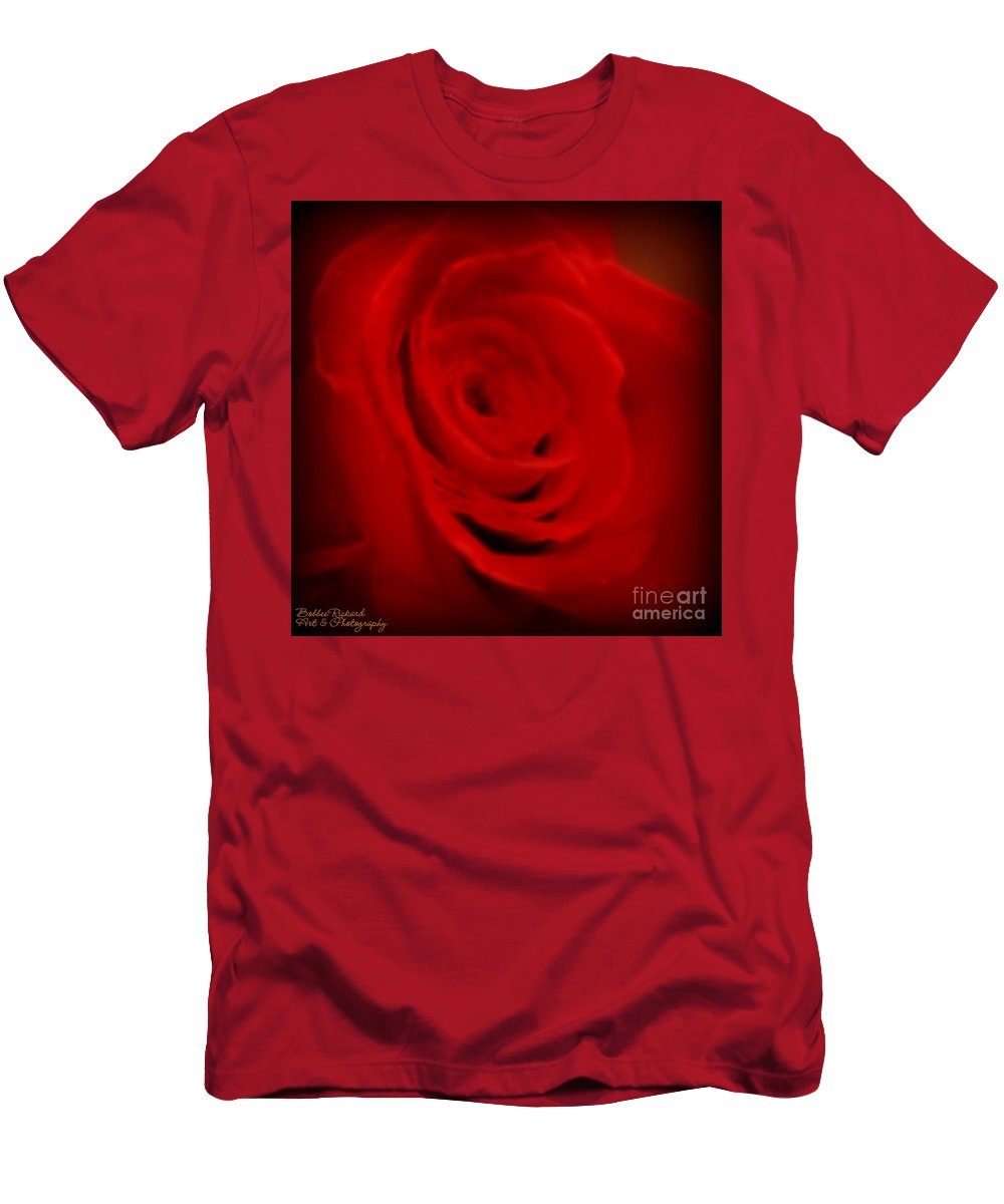 Acrylic Prints Men's T-Shirt (Athletic Fit) featuring the photograph Magical Rose by Bobbee Rickard