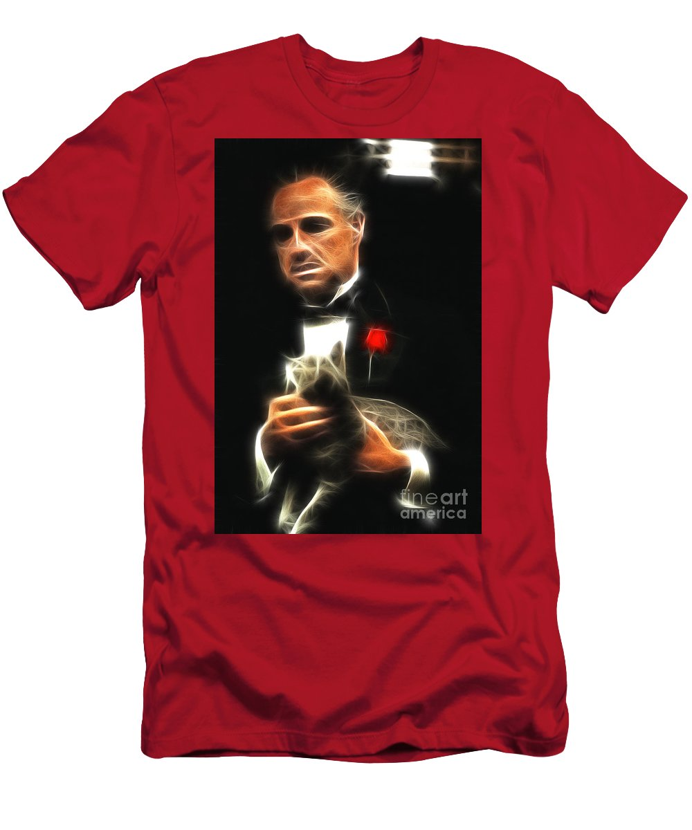 Marlon Brando Men's T-Shirt (Athletic Fit) featuring the photograph Marlon Brando by Doc Braham