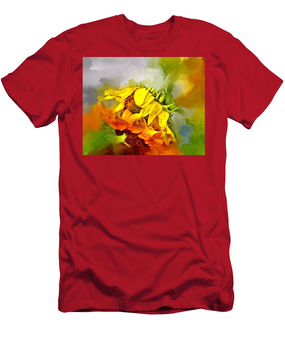 Evie Men's T-Shirt (Athletic Fit) featuring the photograph Marys Garden by Evie Carrier