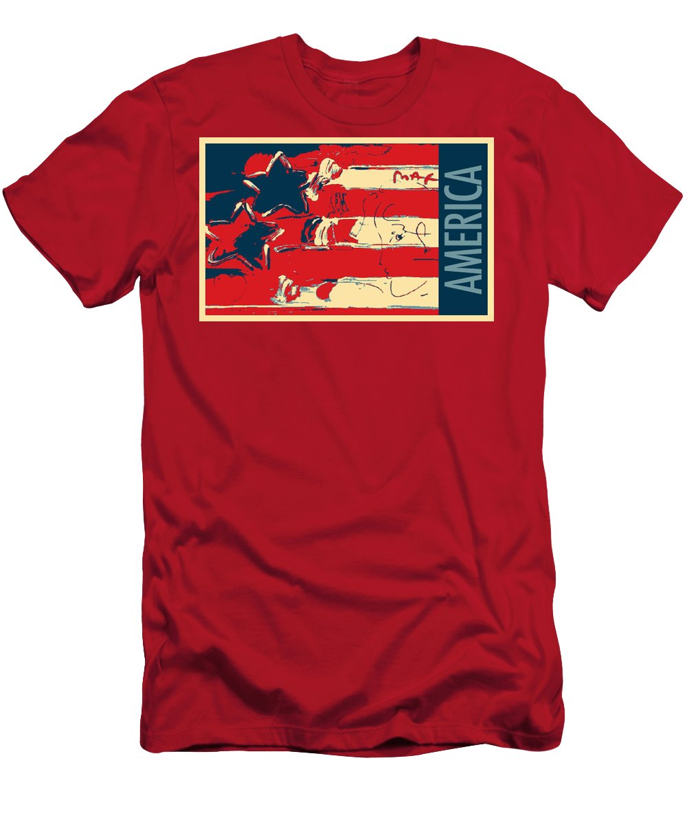 Modern Men's T-Shirt (Athletic Fit) featuring the photograph Max Americana In Hope by Rob Hans