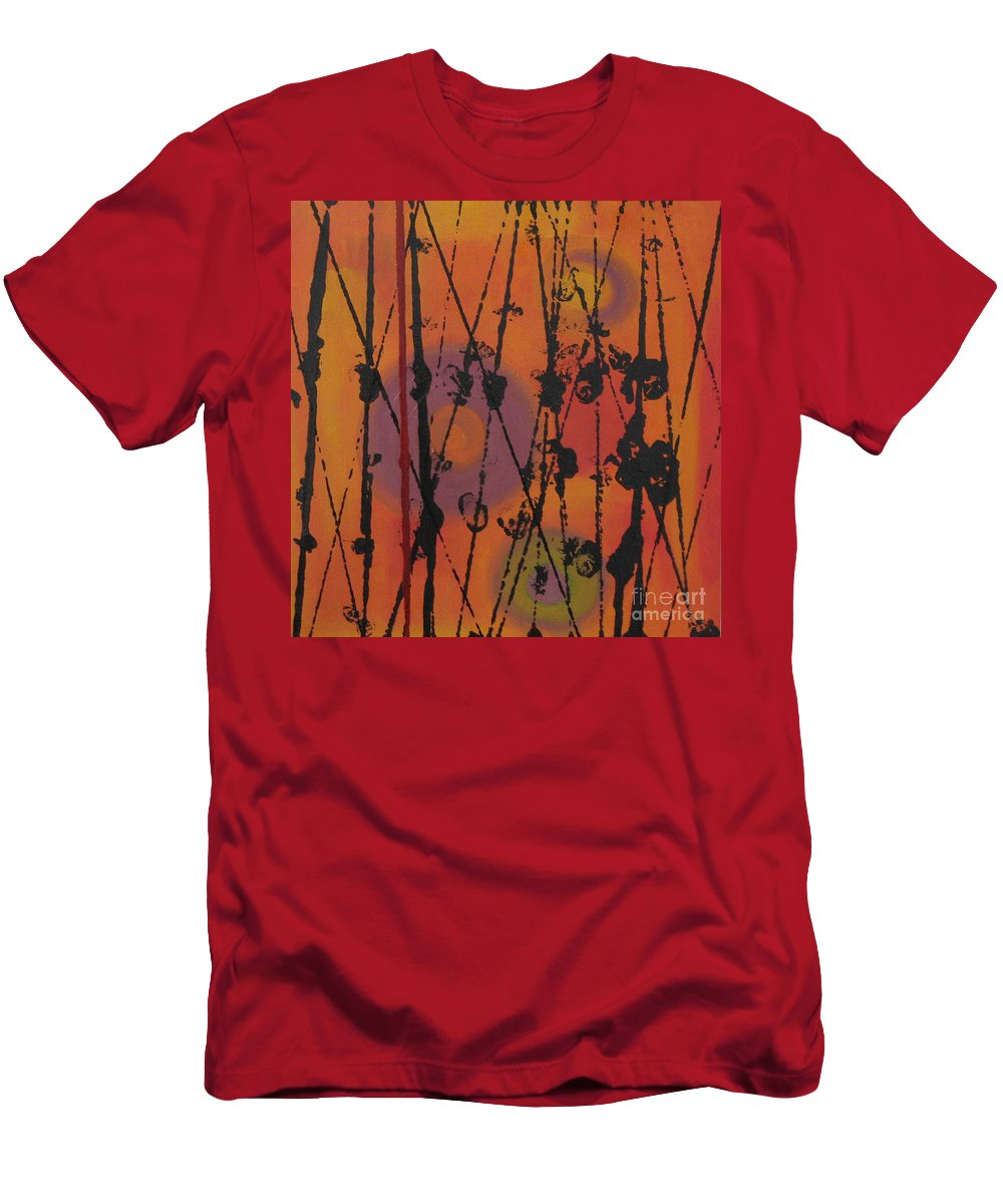 Spiritual Men's T-Shirt (Athletic Fit) featuring the painting Maya 1 by Mini Arora