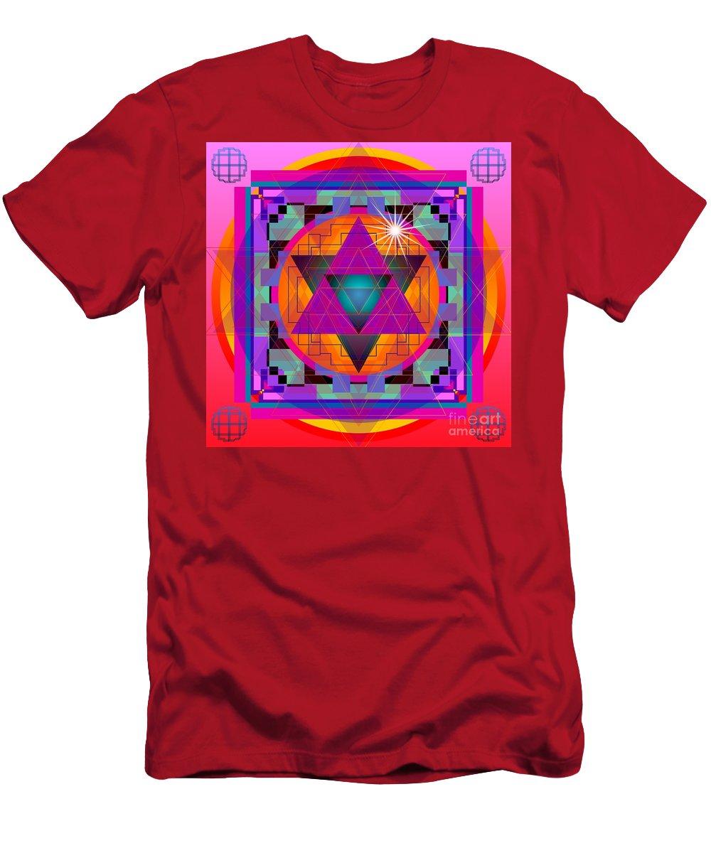 Digital Men's T-Shirt (Athletic Fit) featuring the digital art Merkaba 2013 by Kathryn Strick