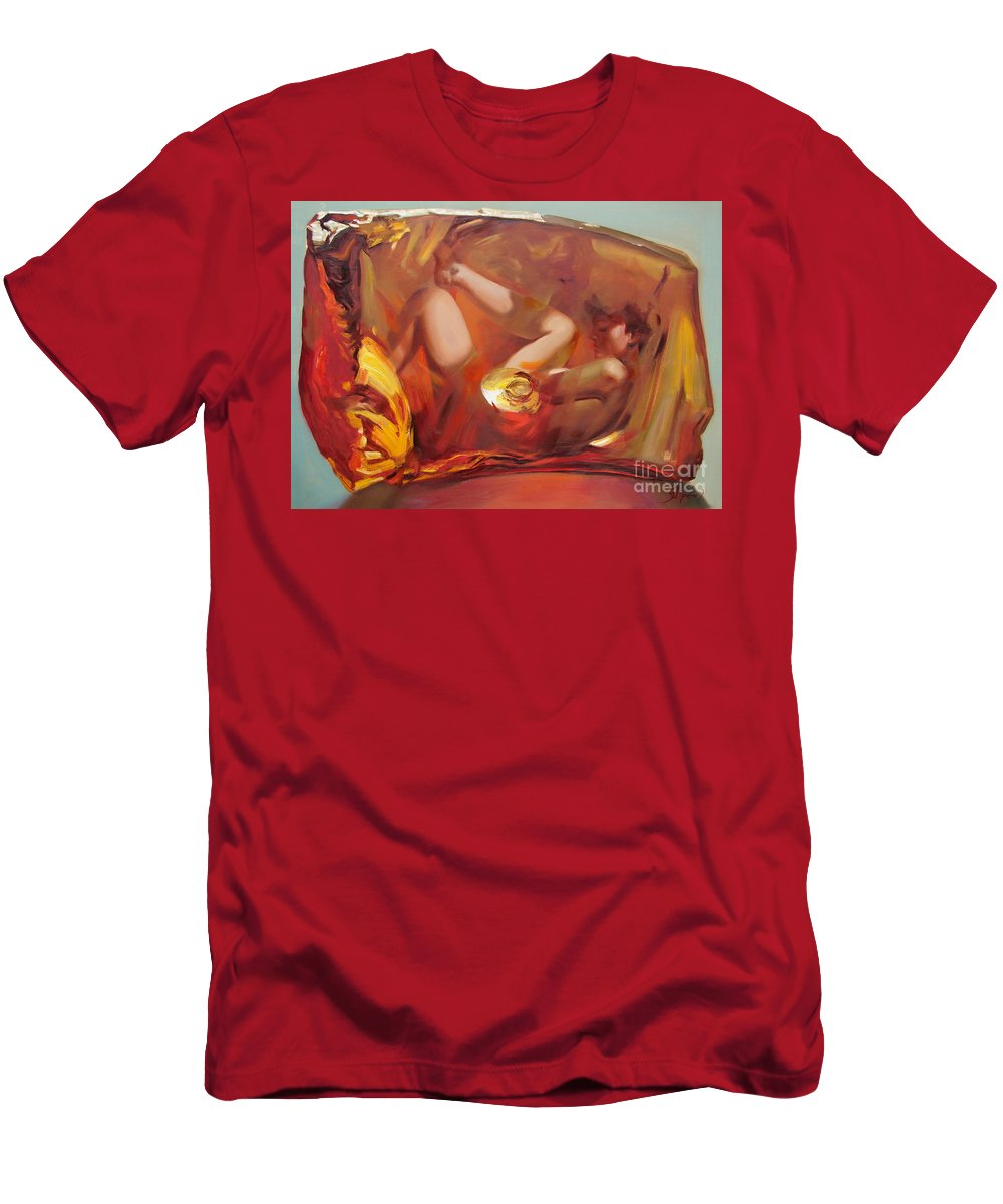 Ignatenko Men's T-Shirt (Athletic Fit) featuring the painting Metamorphoses by Sergey Ignatenko