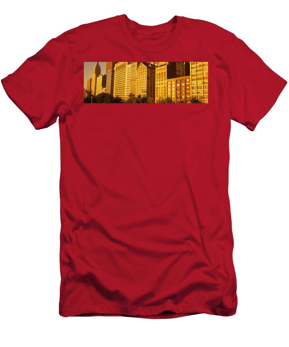 Photography Men's T-Shirt (Athletic Fit) featuring the photograph Michigan Avenue Architecture, Chicago by Panoramic Images