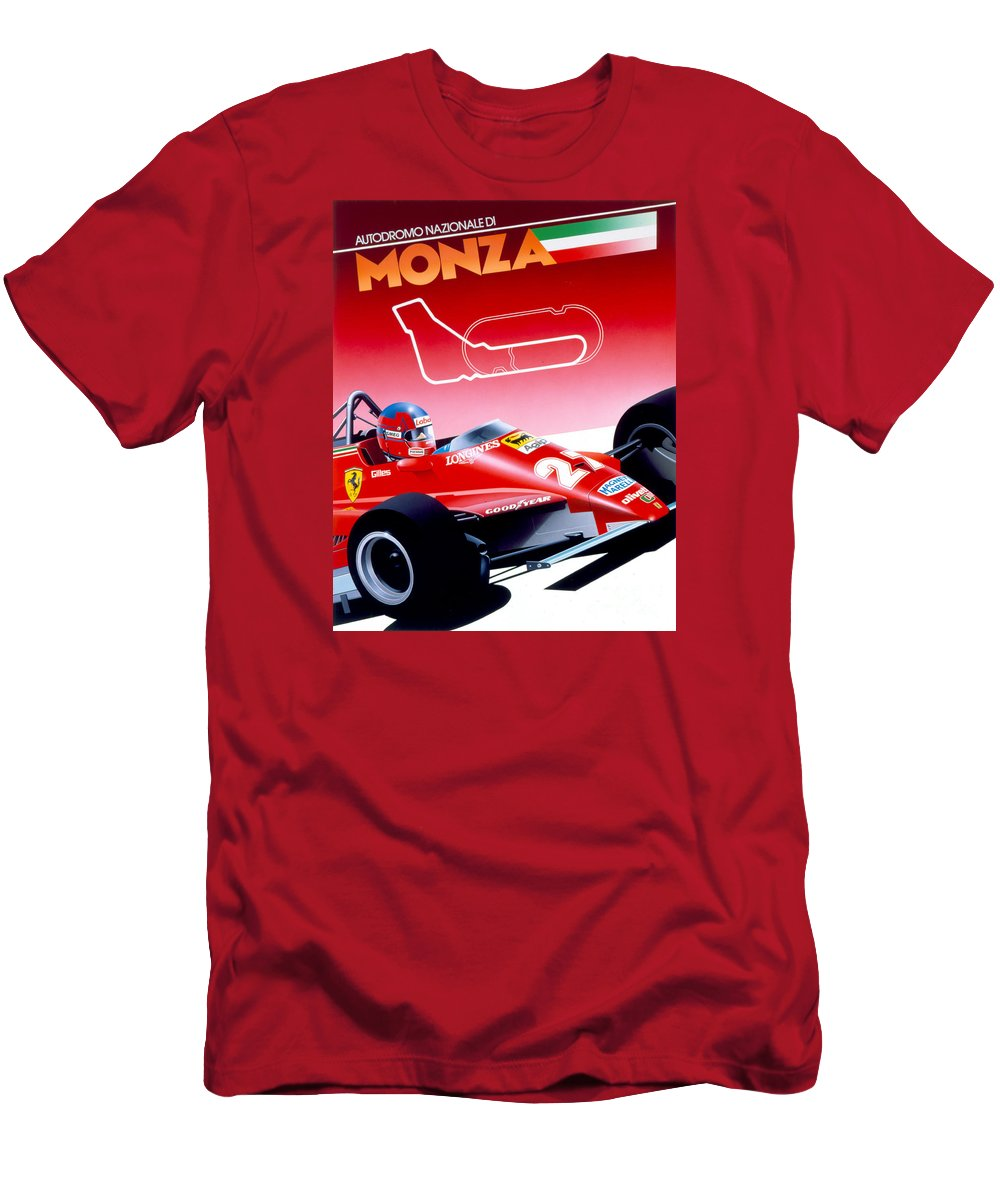 80's Men's T-Shirt (Athletic Fit) featuring the digital art Monza by MGL Meiklejohn Graphics Licensing