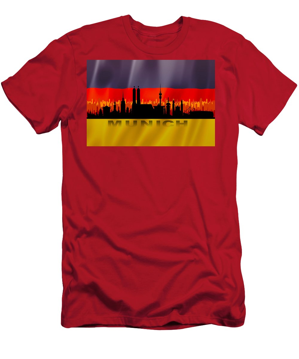 Architecture Men's T-Shirt (Athletic Fit) featuring the digital art Munich City by Don Kuing
