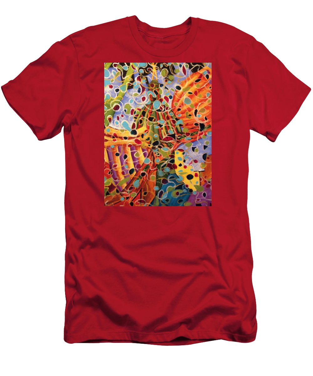 Madison Men's T-Shirt (Athletic Fit) featuring the painting My Madison by Linda Markwardt