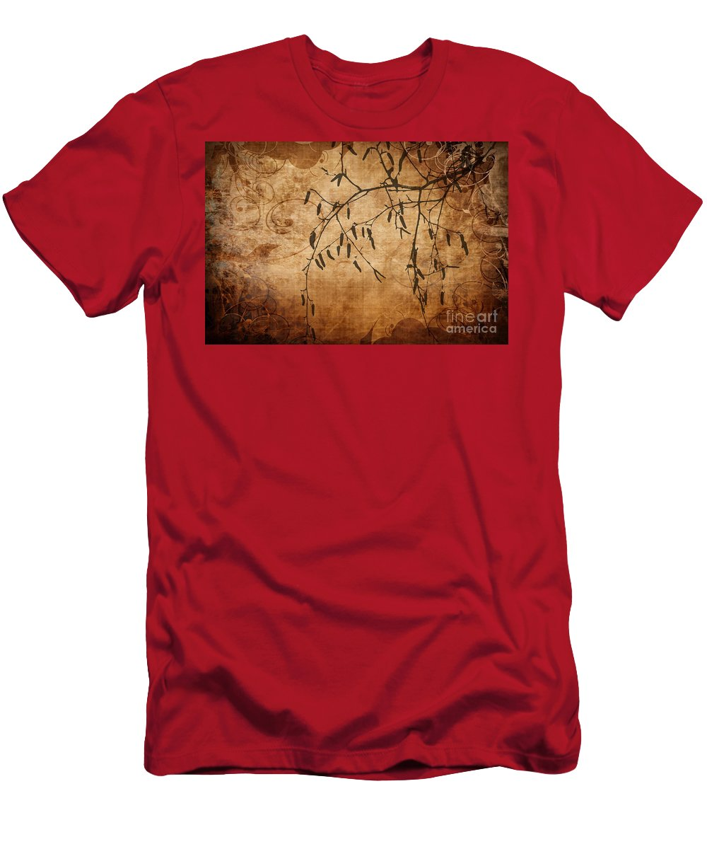 Flower Men's T-Shirt (Athletic Fit) featuring the photograph Nature Canvas by Andrea Kollo
