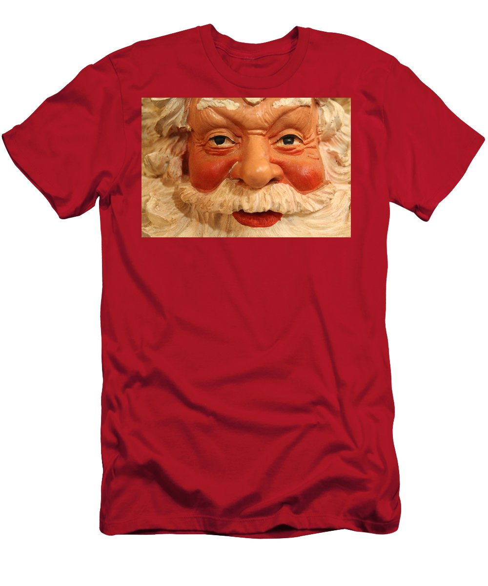 Santa Men's T-Shirt (Athletic Fit) featuring the photograph Naughty Or Nice by Lynn Sprowl