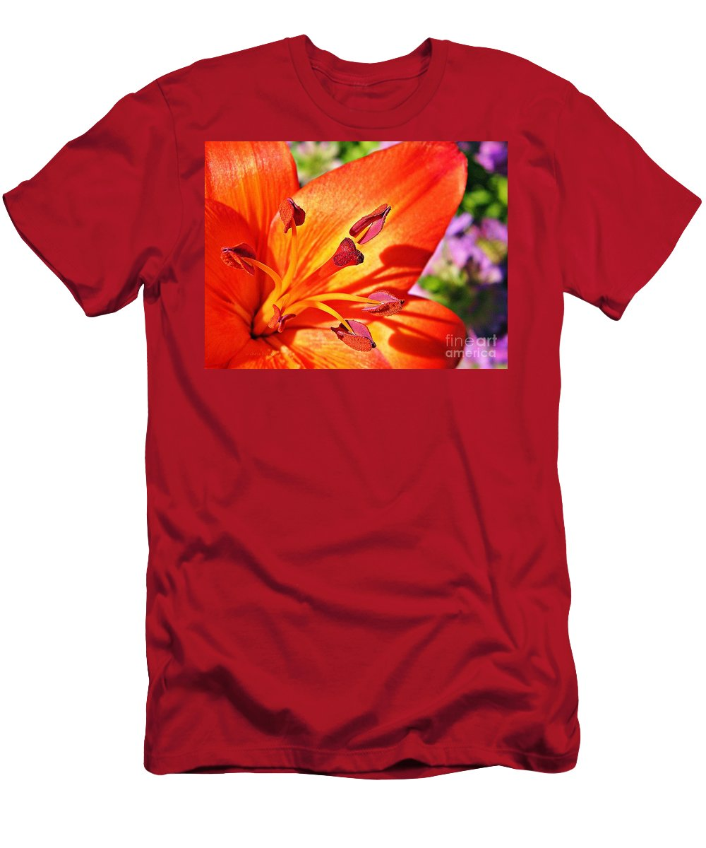 Nature Men's T-Shirt (Athletic Fit) featuring the photograph Neon Asiatic by Chris Berry