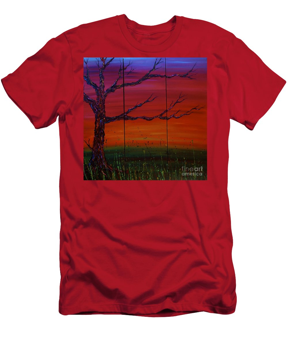 Tree Men's T-Shirt (Athletic Fit) featuring the painting No. #1229 by Jacqueline Athmann