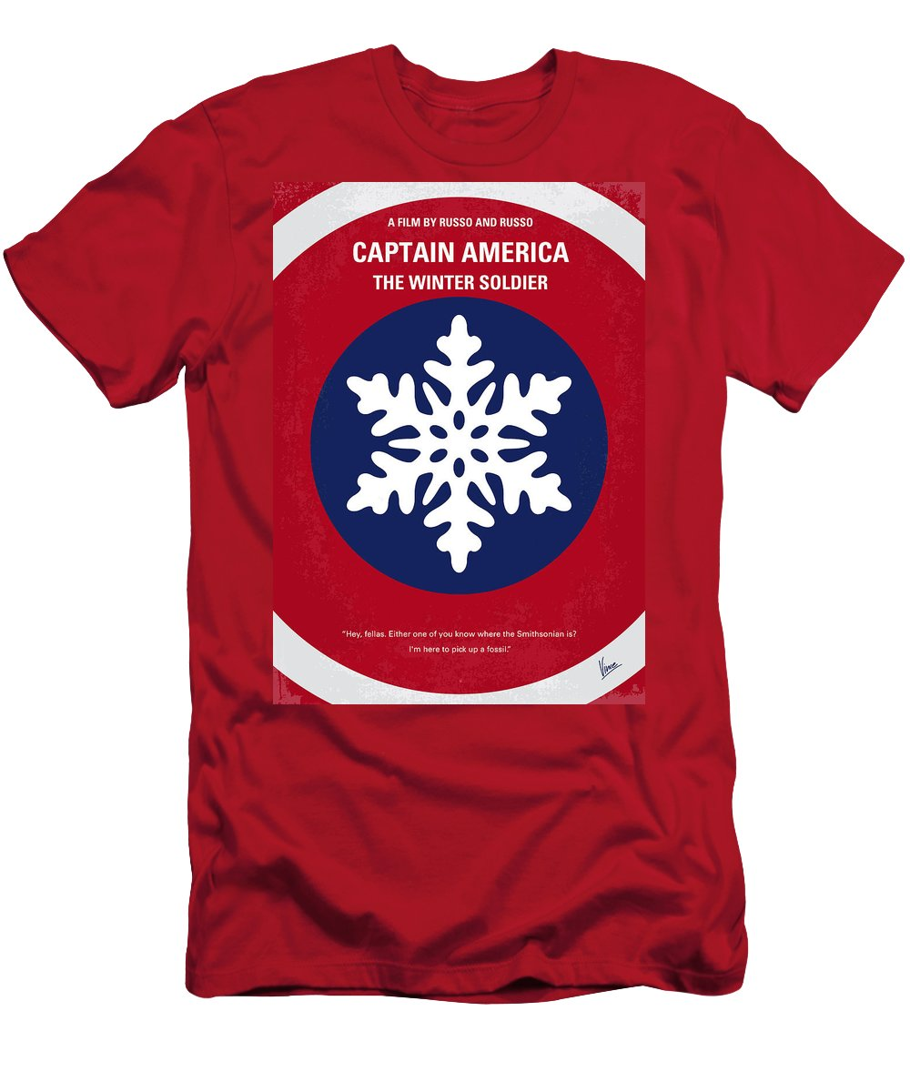Captain Men's T-Shirt (Athletic Fit) featuring the digital art No329 My Captain America - 2 Minimal Movie Poster by Chungkong Art