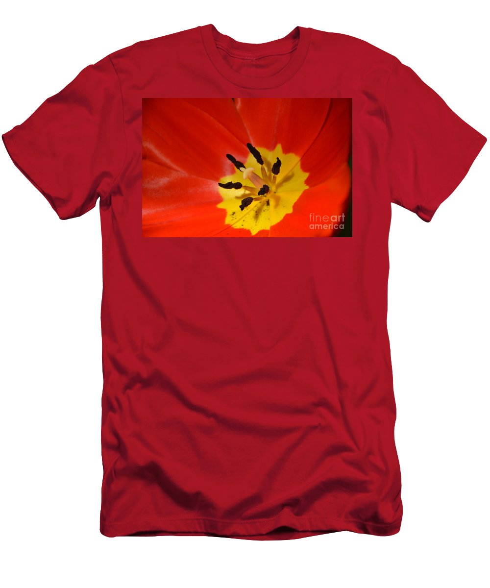 Nature Men's T-Shirt (Athletic Fit) featuring the photograph On Fire by Randy J Heath