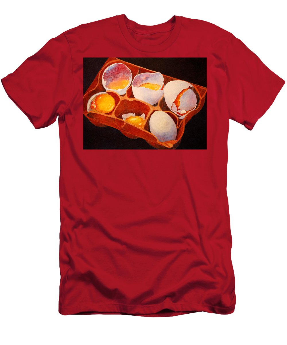 Eggs Men's T-Shirt (Athletic Fit) featuring the painting One Good Egg by Roger Rockefeller