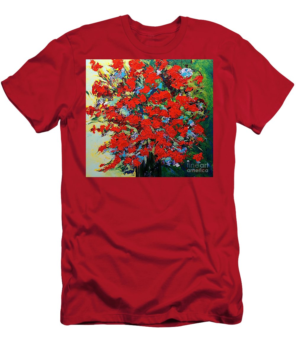 Landscape Men's T-Shirt (Athletic Fit) featuring the painting One Of A Kind by Allan P Friedlander