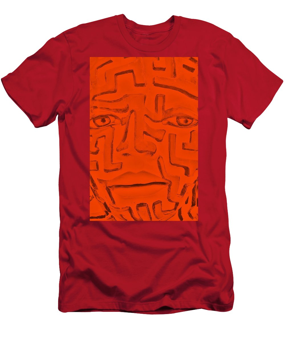 Maze T-Shirt featuring the photograph Orange A Mazing Face by Rob Hans