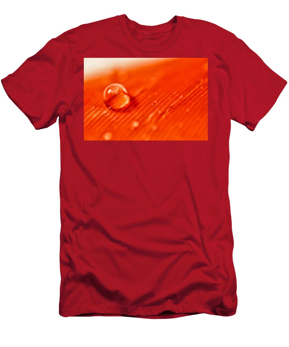 Water Men's T-Shirt (Athletic Fit) featuring the photograph Orange Crush by Lauri Novak