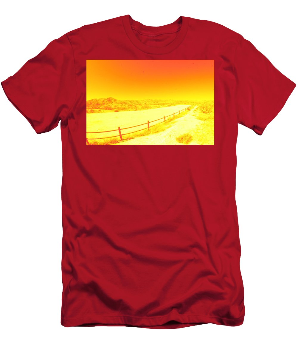 Arizona Men's T-Shirt (Athletic Fit) featuring the photograph Orange by David S Reynolds