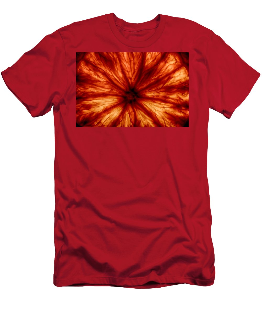 Orange Men's T-Shirt (Athletic Fit) featuring the photograph Orange On Fire by Robert Woodward