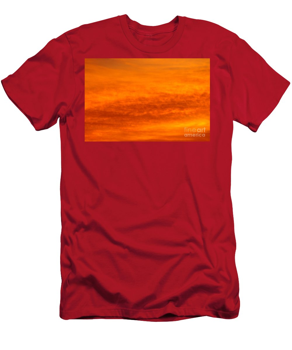Morning Clouds Of Orange Men's T-Shirt (Athletic Fit) featuring the photograph Orange Sunrise by Jeffery L Bowers