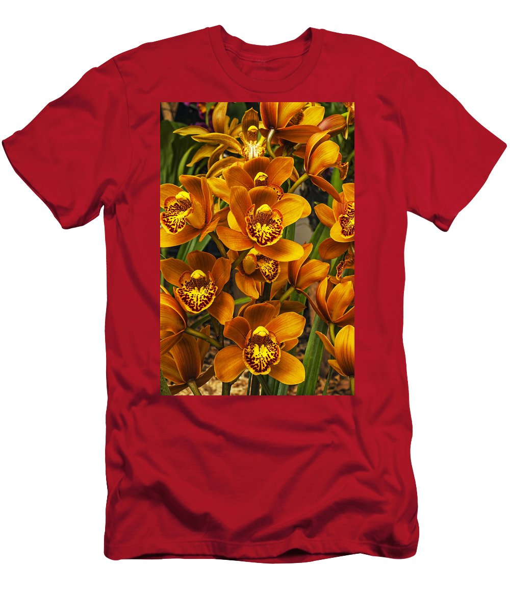 Orchid Men's T-Shirt (Athletic Fit) featuring the photograph Orchids by Jess Kraft