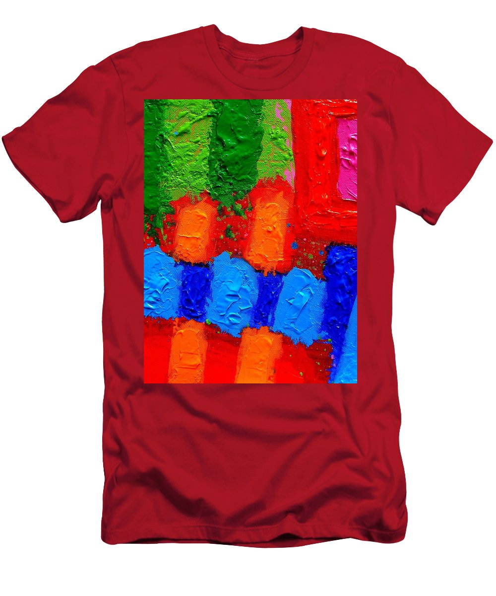 Abstract Men's T-Shirt (Athletic Fit) featuring the painting Palimpsest Xiv by John Nolan