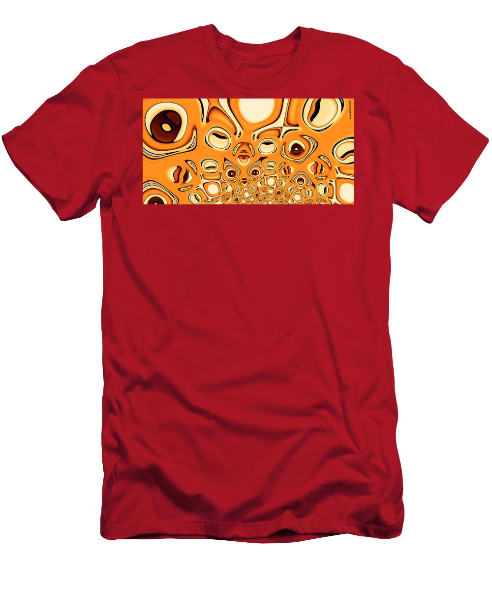 Abstract Men's T-Shirt (Athletic Fit) featuring the digital art Paranoia by Richard Kelly