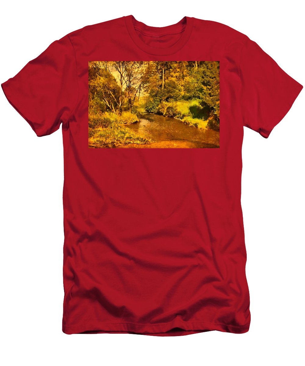 Photography Men's T-Shirt (Athletic Fit) featuring the photograph Passage Down The River by Roman Solar