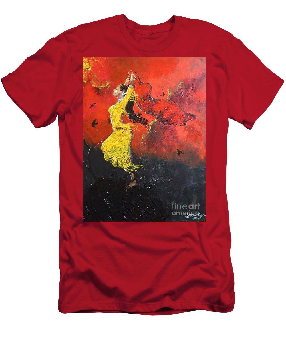 Impressionism Men's T-Shirt (Athletic Fit) featuring the painting Path To Ascension by Stefan Duncan
