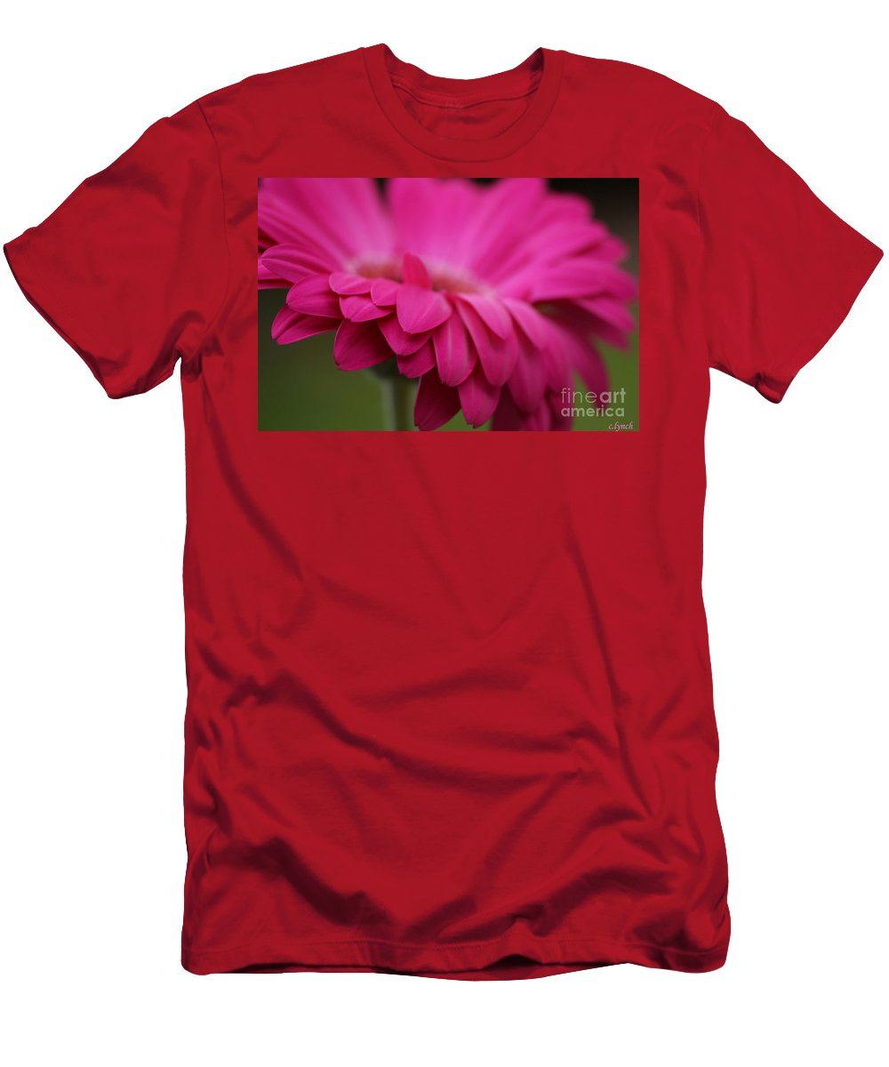 Pink Men's T-Shirt (Athletic Fit) featuring the photograph Petals Pink by Carol Lynch