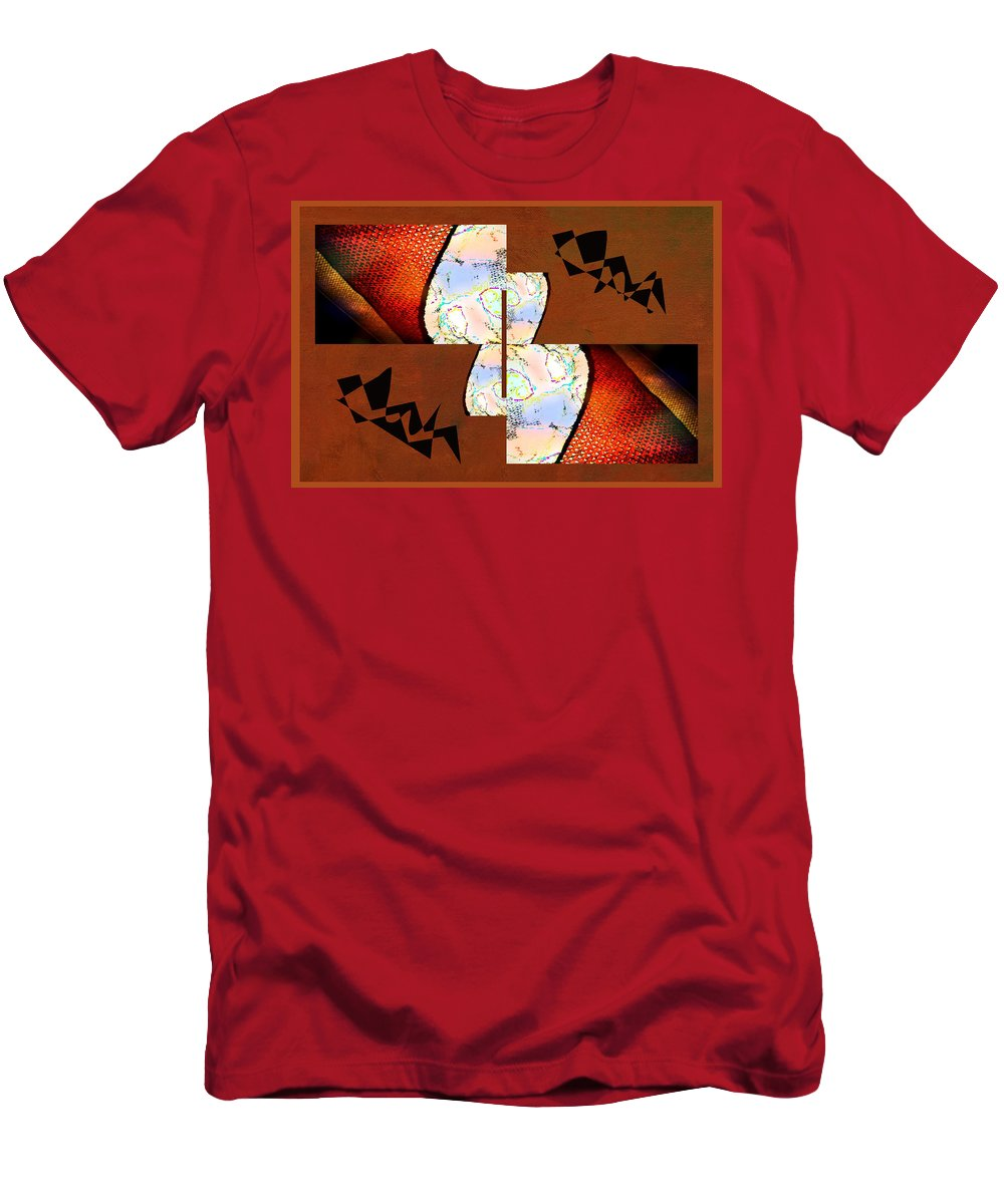 Abstract Men's T-Shirt (Athletic Fit) featuring the photograph Pillow Talk by Linda Dunn