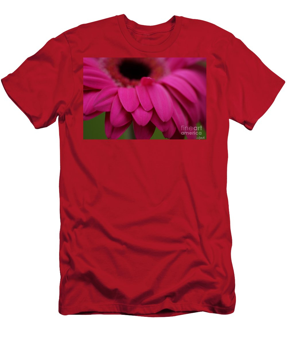 Pink Men's T-Shirt (Athletic Fit) featuring the photograph Pink Petals by Carol Lynch