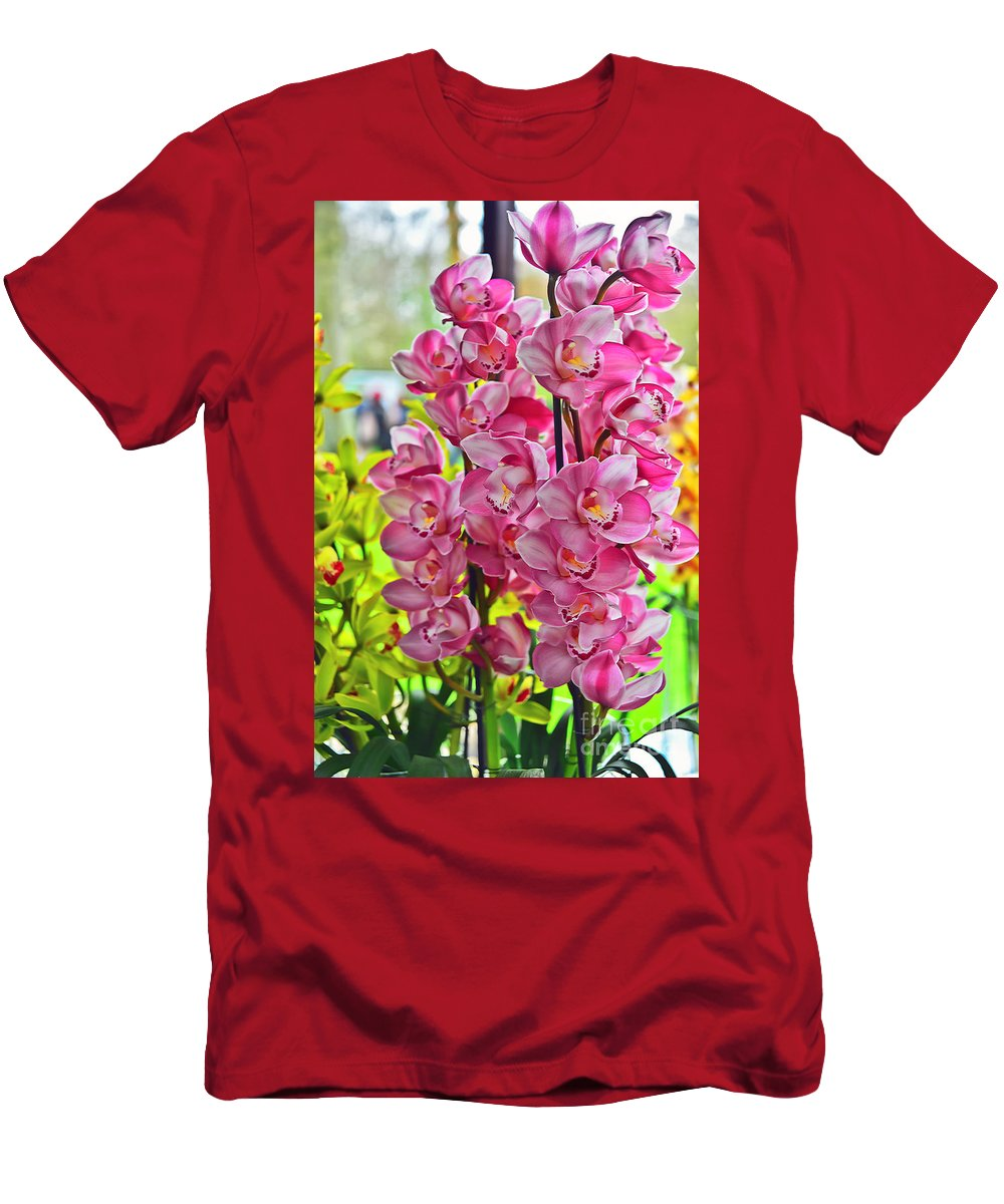 Travel Men's T-Shirt (Athletic Fit) featuring the photograph Pink Shadows by Elvis Vaughn