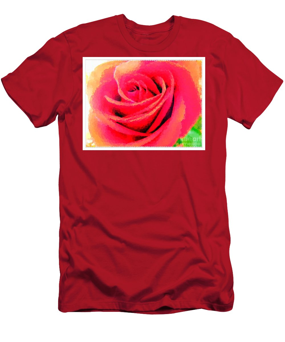 Polka Dot Beautiful Rose Men's T-Shirt (Athletic Fit) featuring the photograph Polka Dot Beautiful Rose by Barbara Griffin