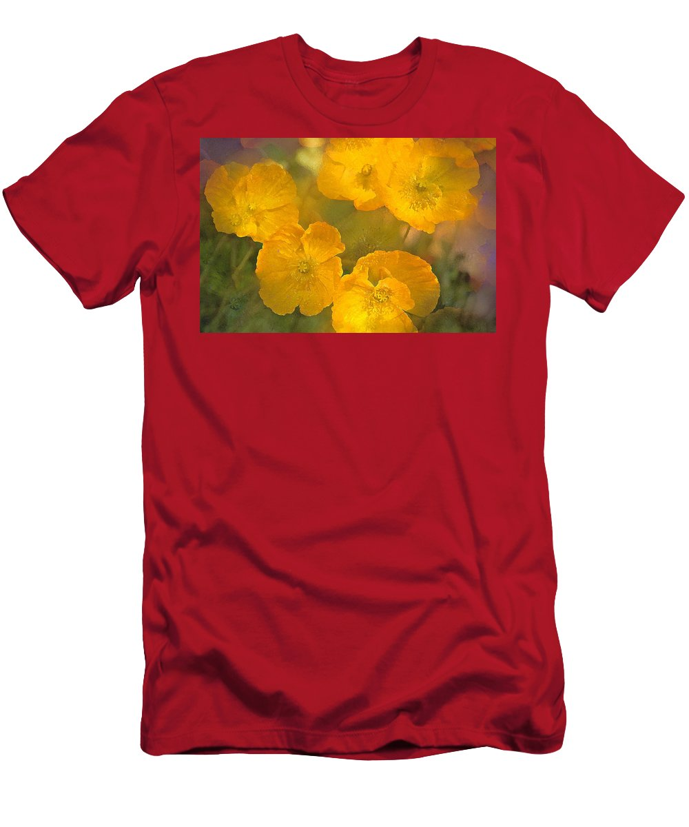Floral Men's T-Shirt (Athletic Fit) featuring the photograph Poppy 29 by Pamela Cooper