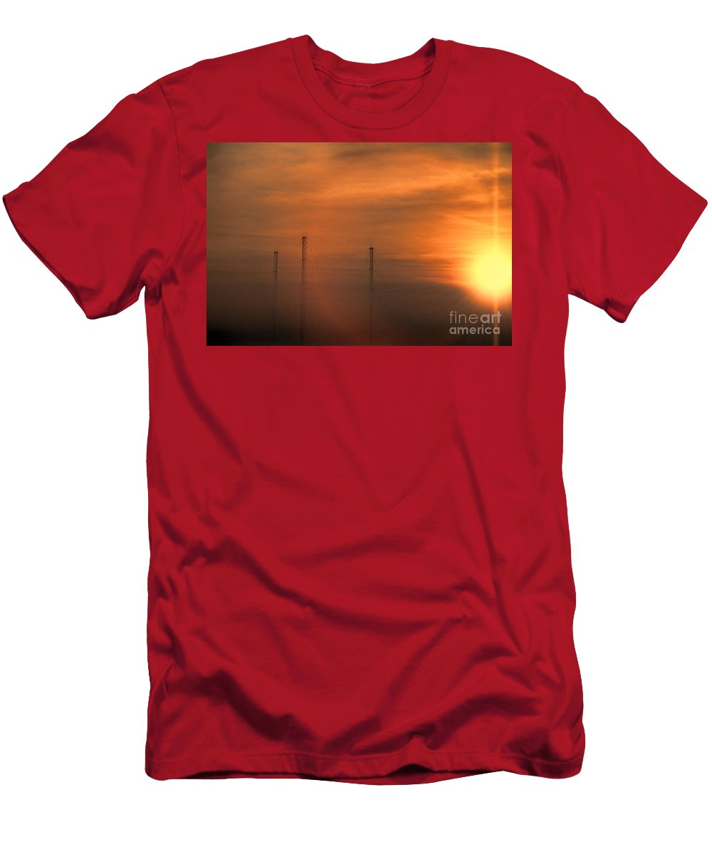 Radio Waves Men's T-Shirt (Athletic Fit) featuring the photograph Radio Waves V2 by Douglas Barnard