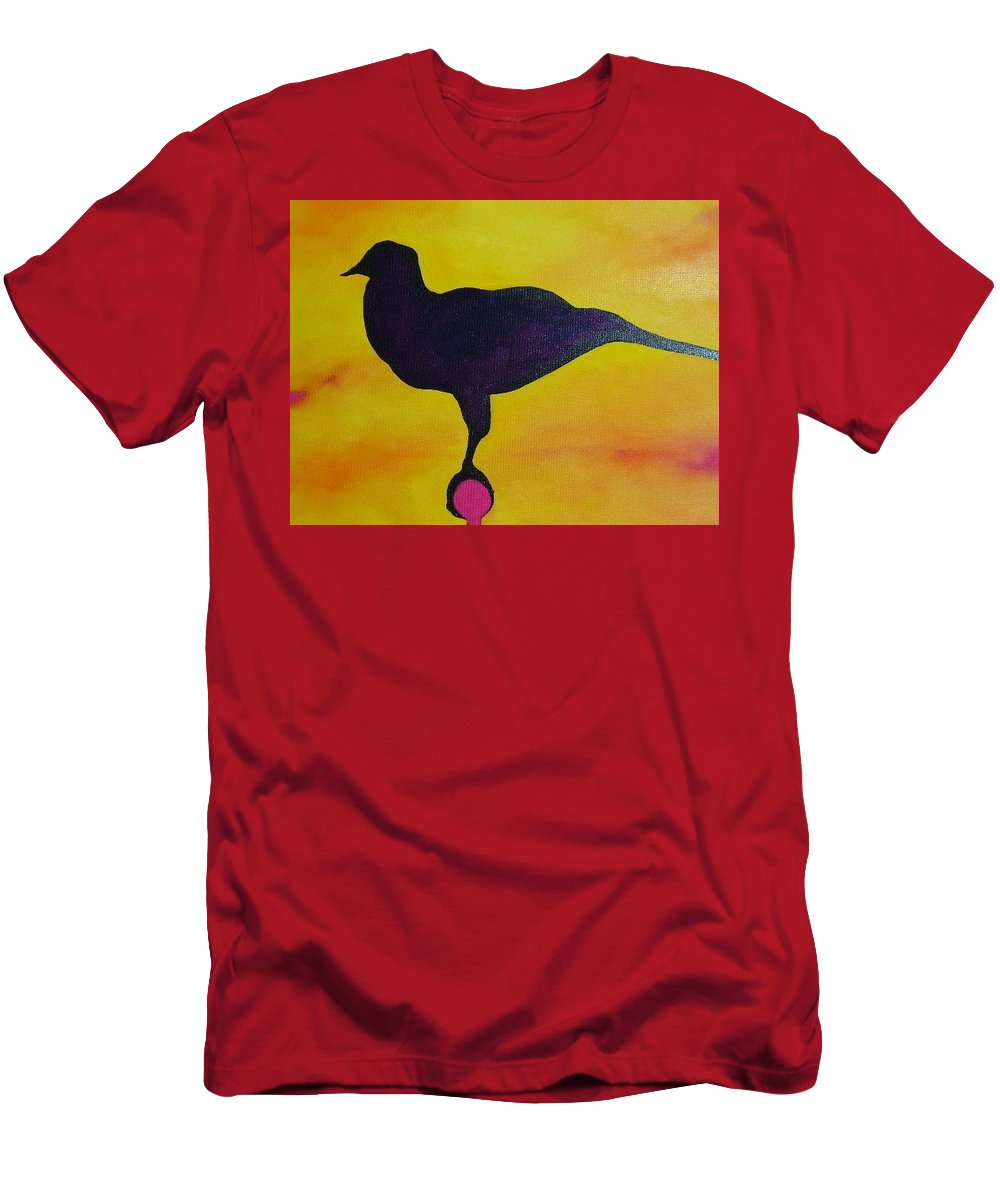 Raven Men's T-Shirt (Athletic Fit) featuring the painting Raven by Lord Frederick Lyle Morris