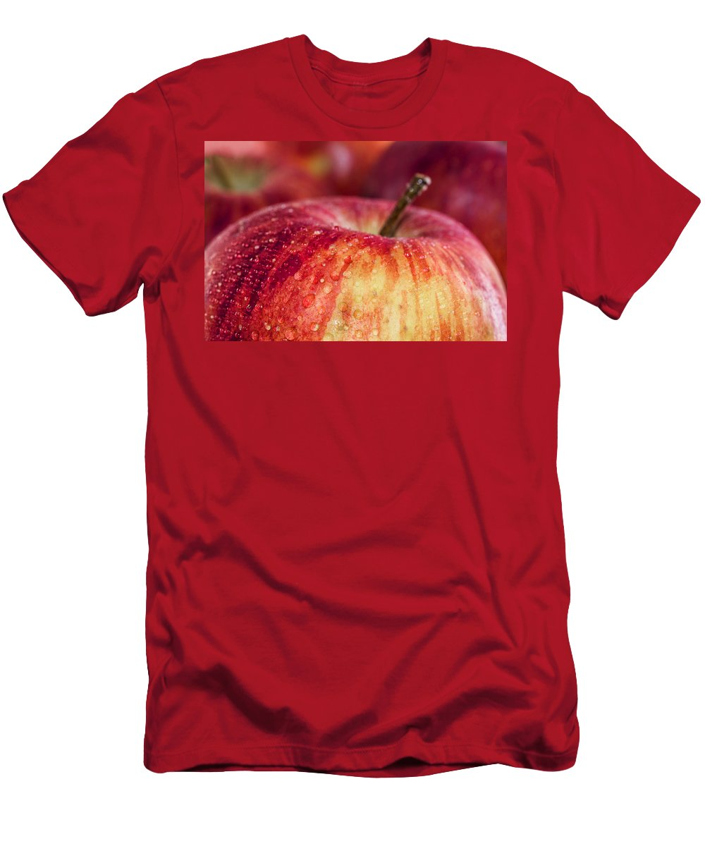 Red Men's T-Shirt (Athletic Fit) featuring the photograph Red Apple by Paulo Goncalves