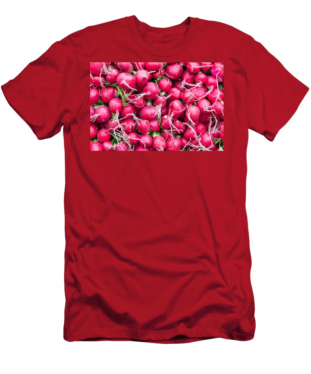 Agriculture Men's T-Shirt (Athletic Fit) featuring the photograph Red Radishes by John Trax