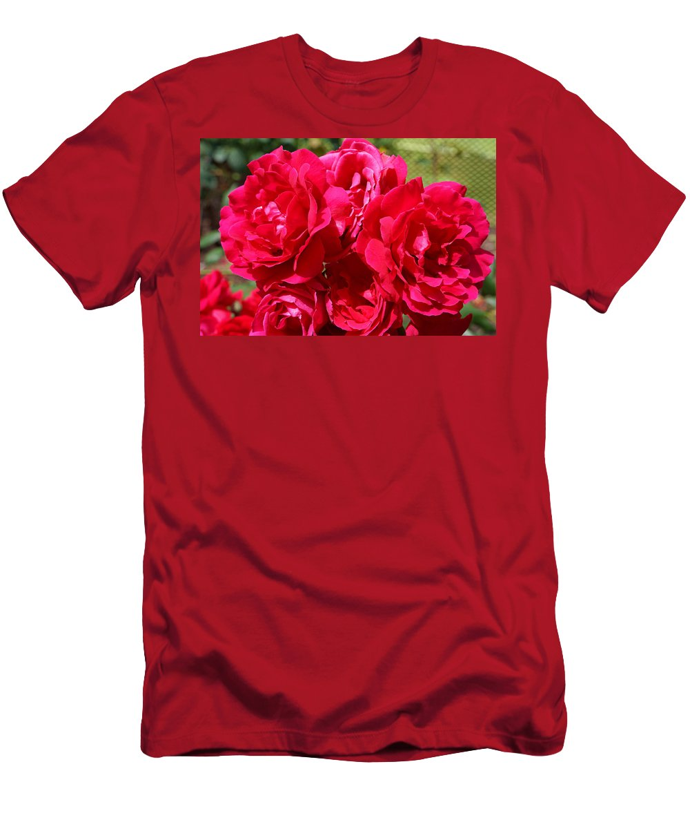 Rose T-Shirt featuring the photograph RED Rose Garden Art Prints Roses by Patti Baslee