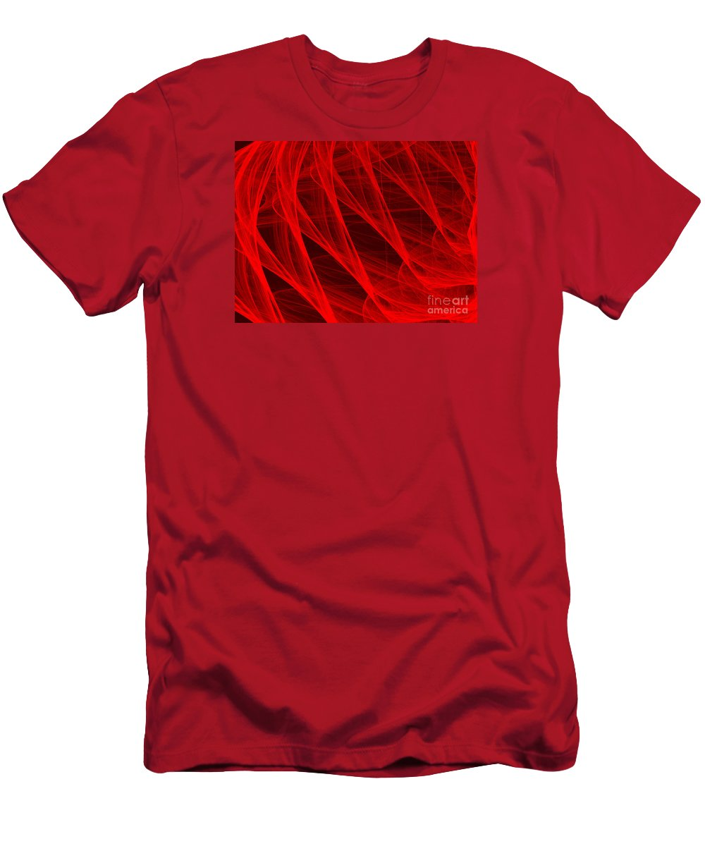 Digital Art Men's T-Shirt (Athletic Fit) featuring the digital art Red Threads by Alvardo Rockigres