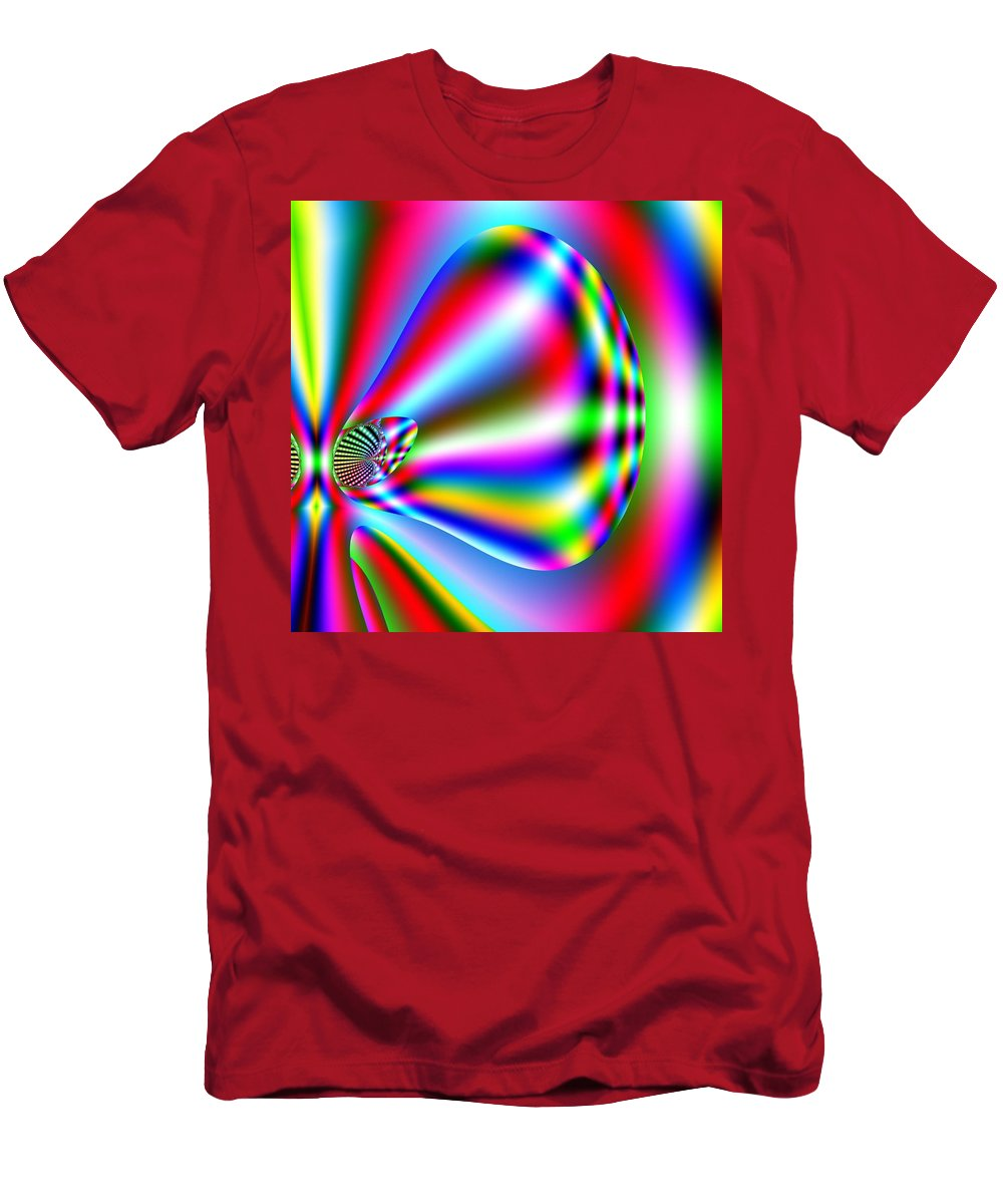 Red Men's T-Shirt (Athletic Fit) featuring the digital art Reendru by John Holfinger