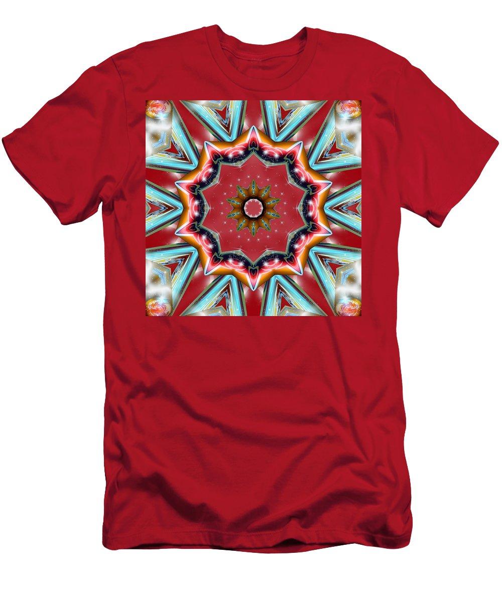 Sacredlife Mandalas Men's T-Shirt (Athletic Fit) featuring the digital art Root Activation by Derek Gedney
