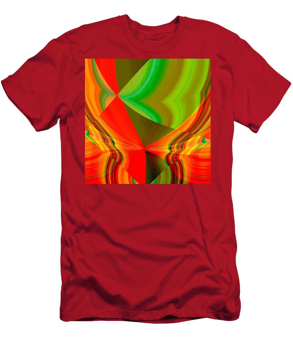 Orange Men's T-Shirt (Athletic Fit) featuring the digital art Rysbar by John Holfinger