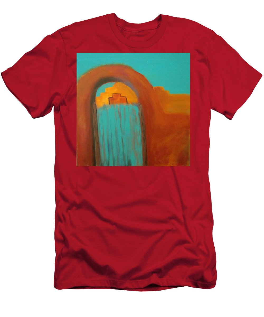 Southwest Men's T-Shirt (Athletic Fit) featuring the painting Sante Fe by Keith Thue
