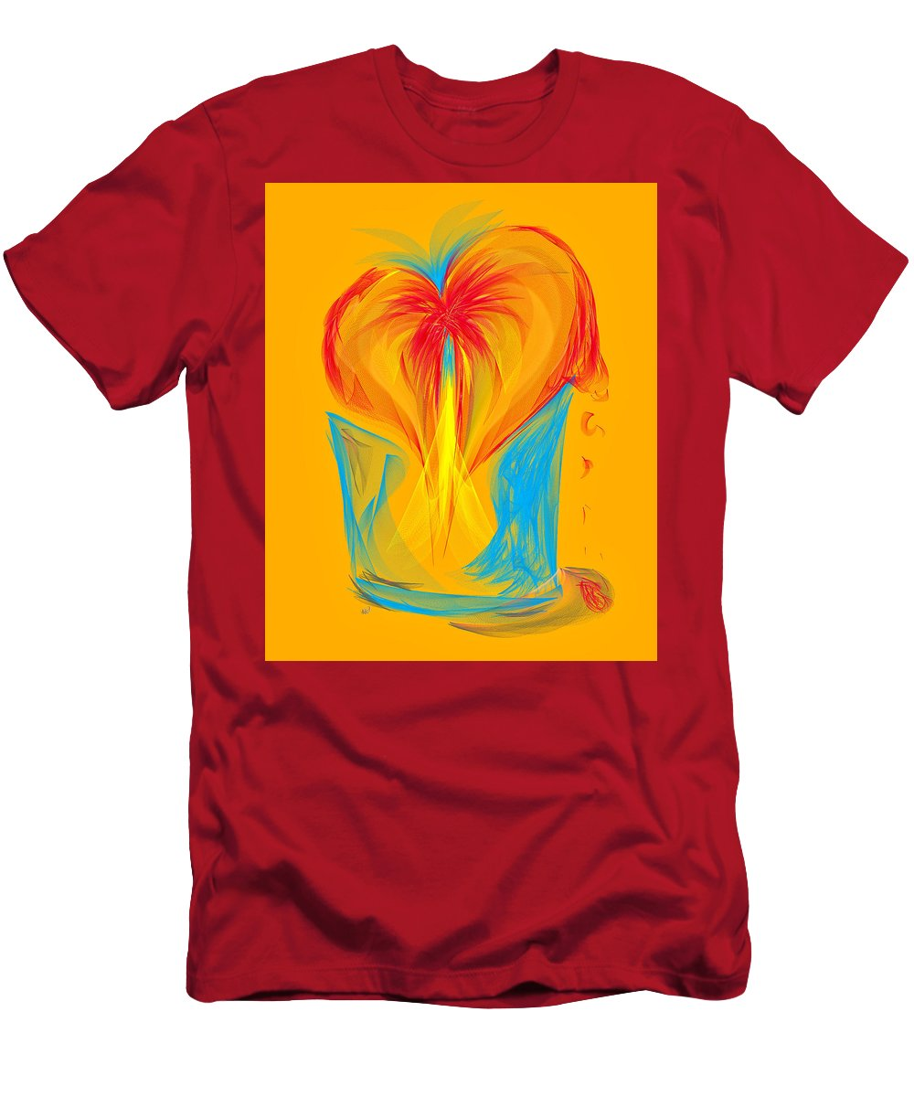 Ipad Men's T-Shirt (Athletic Fit) featuring the painting Secret Desire by Angela Stanton