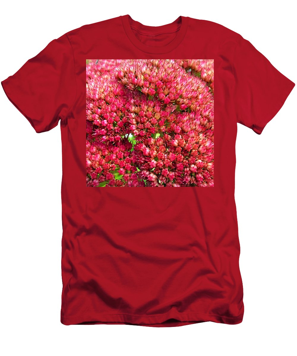 Duane Mccullough Men's T-Shirt (Athletic Fit) featuring the photograph Sedums Upclose Filtered by Duane McCullough