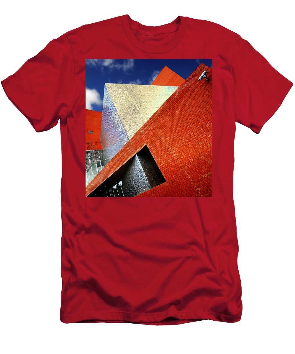 Architecture Men's T-Shirt (Athletic Fit) featuring the photograph Sharps by Wayne Sherriff