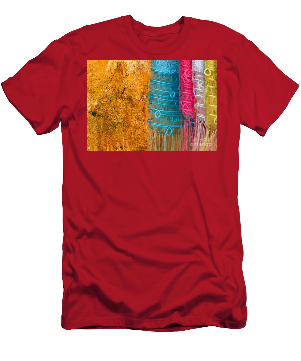 Vietnam Men's T-Shirt (Athletic Fit) featuring the photograph Silk Fabric 05 by Rick Piper Photography