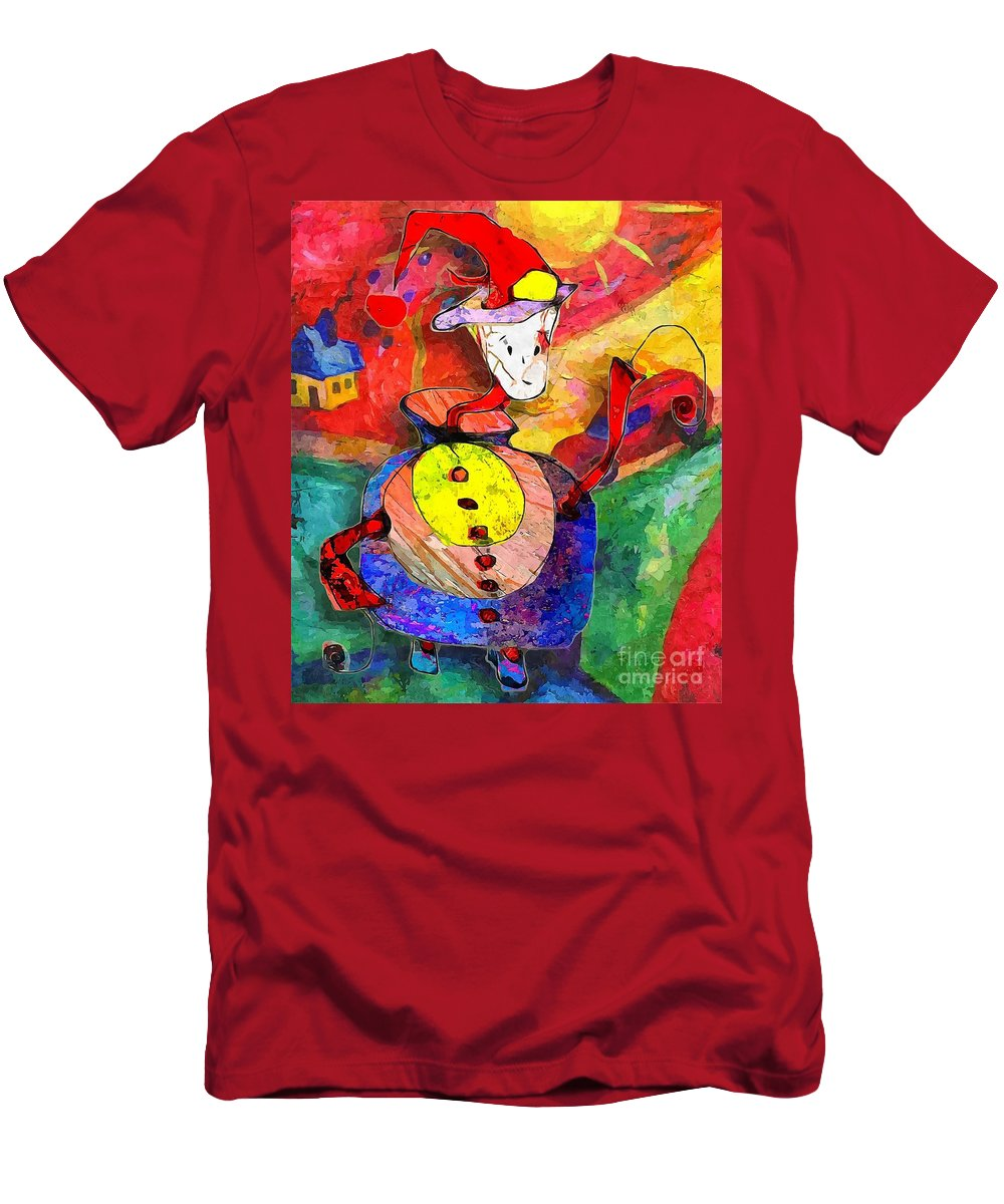 Graphics Men's T-Shirt (Athletic Fit) featuring the digital art Snail 0372 Marucii by Marek Lutek